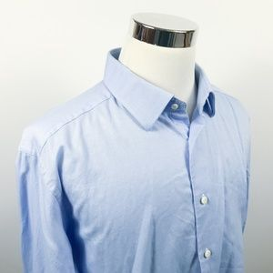 David Donahue 18 1/2 34/35 Trim Fit Dress Shirt